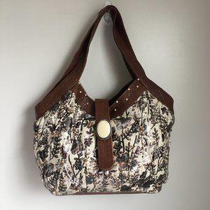 Mary Frances handbag w/brooch and bead accents